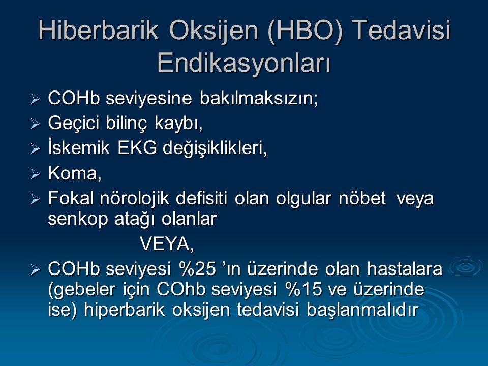 Hiberbarik Oksijen (HBO) Tedavisi Endikasyonları