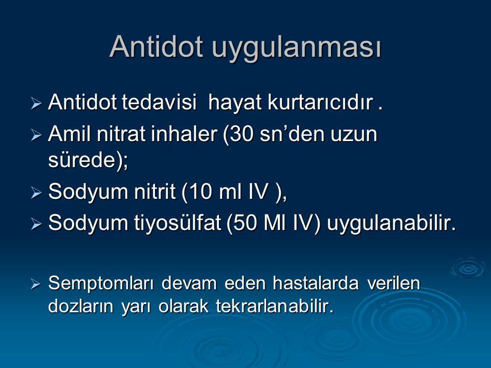 Antidot uygulanması Antidot tedavisi hayat kurtarıcıdır .