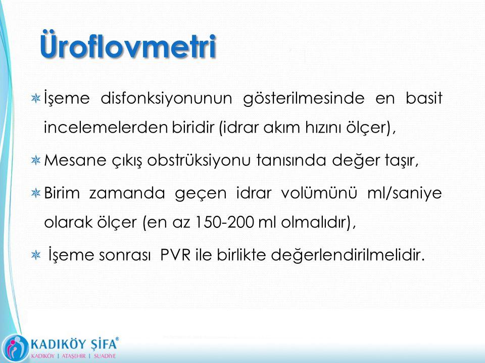 Üroflovmetri İşeme disfonksiyonunun gösterilmesinde en basit incelemelerden biridir (idrar akım hızını ölçer),