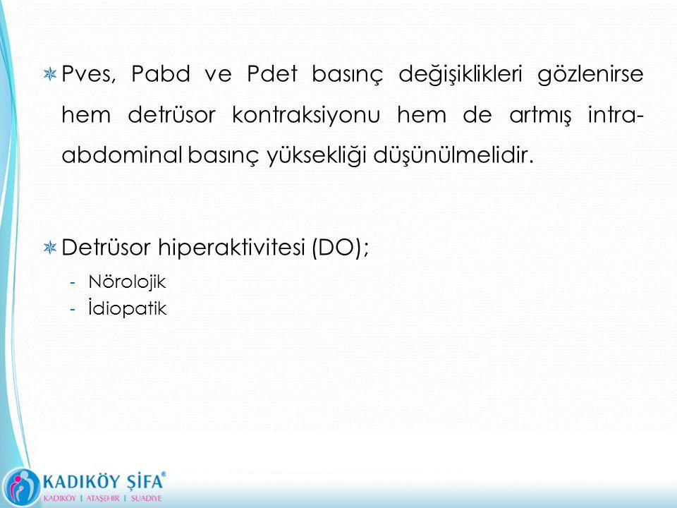 Detrüsor hiperaktivitesi (DO);