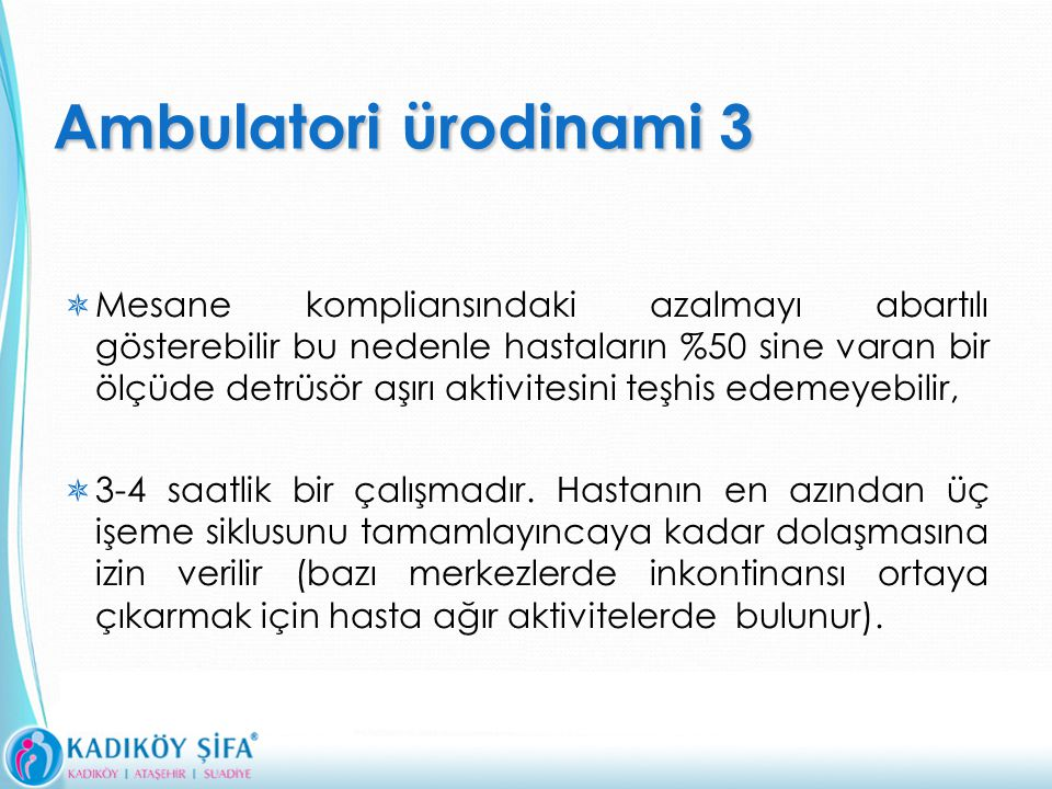 Ambulatori ürodinami 3