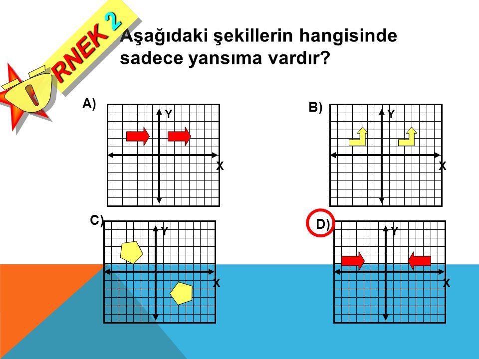 RNEK 2 Ö Aşağıdaki şekillerin hangisinde sadece yansıma vardır A) B)