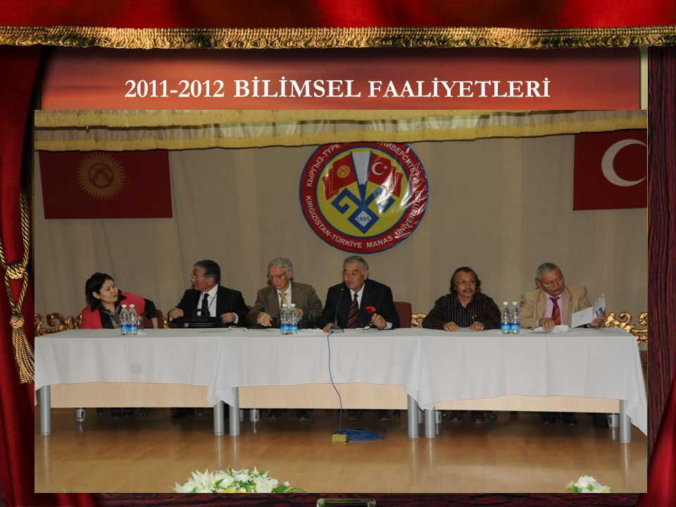 2011-2012 BİLİMSEL FAALİYETLERİ