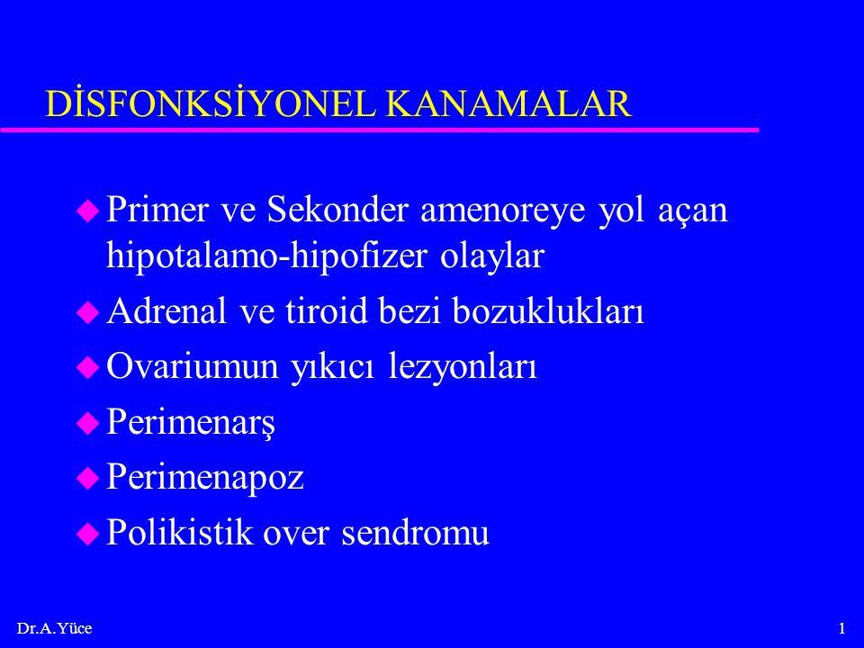 DİSFONKSİYONEL KANAMALAR