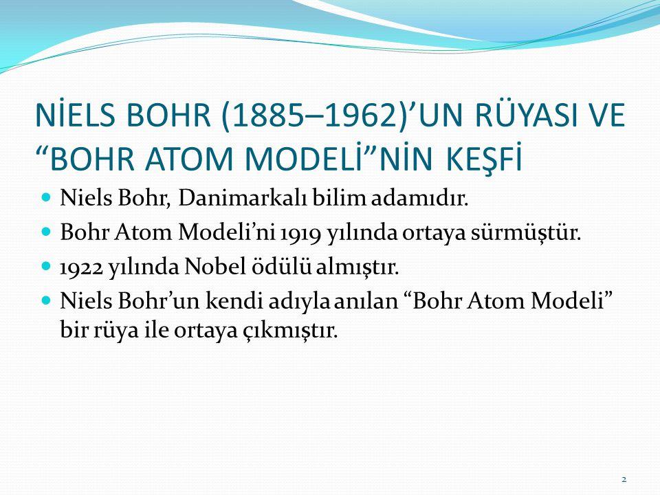 NİELS BOHR (1885–1962)'UN RÜYASI VE BOHR ATOM MODELİ NİN KEŞFİ