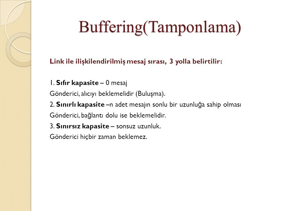 Buffering(Tamponlama)