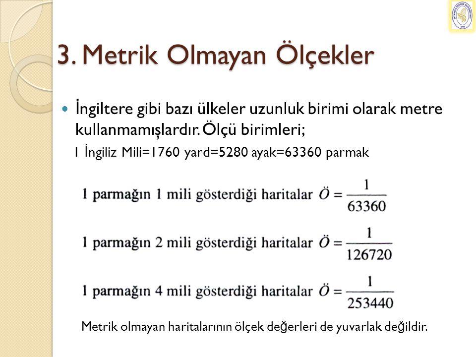 3. Metrik Olmayan Ölçekler