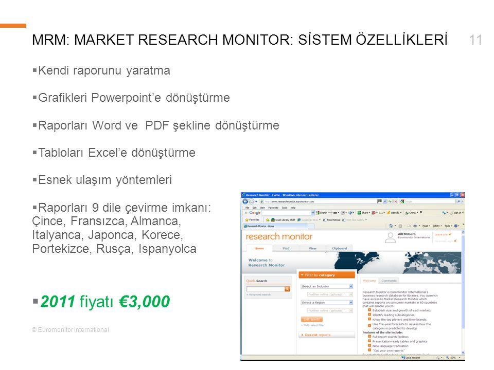 mRm: Market Research monitor: Sİstem ÖZELLİKLERİ