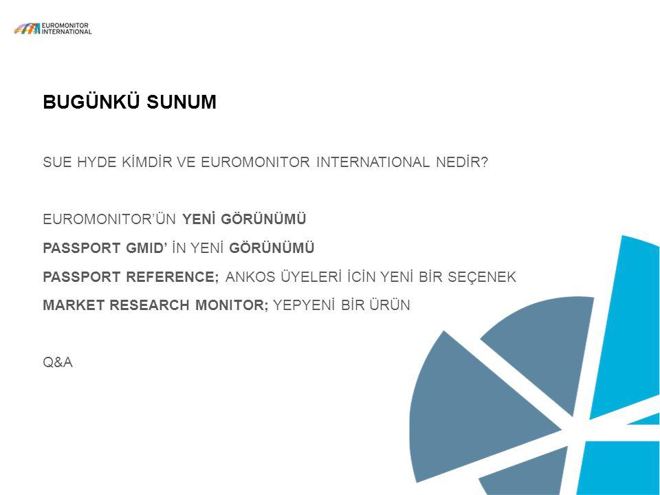 BUGÜNKÜ SUNUM SUE HYDE KİMDİR VE Euromonitor International neDİR