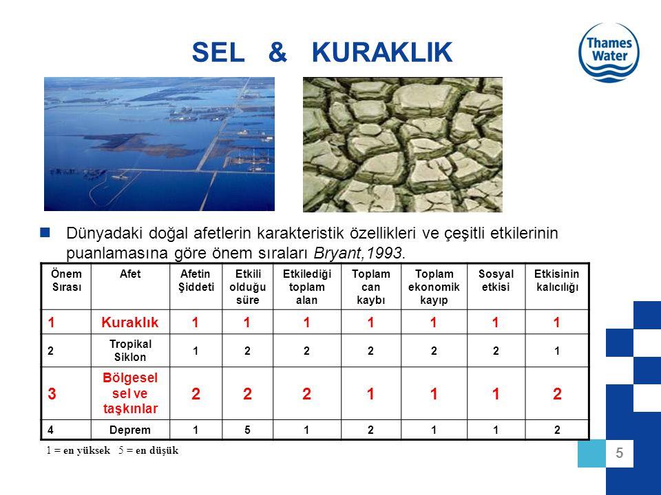 Etkilediği toplam alan Bölgesel sel ve taşkınlar