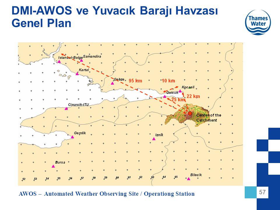 DMI-AWOS ve Yuvacık Barajı Havzası Genel Plan