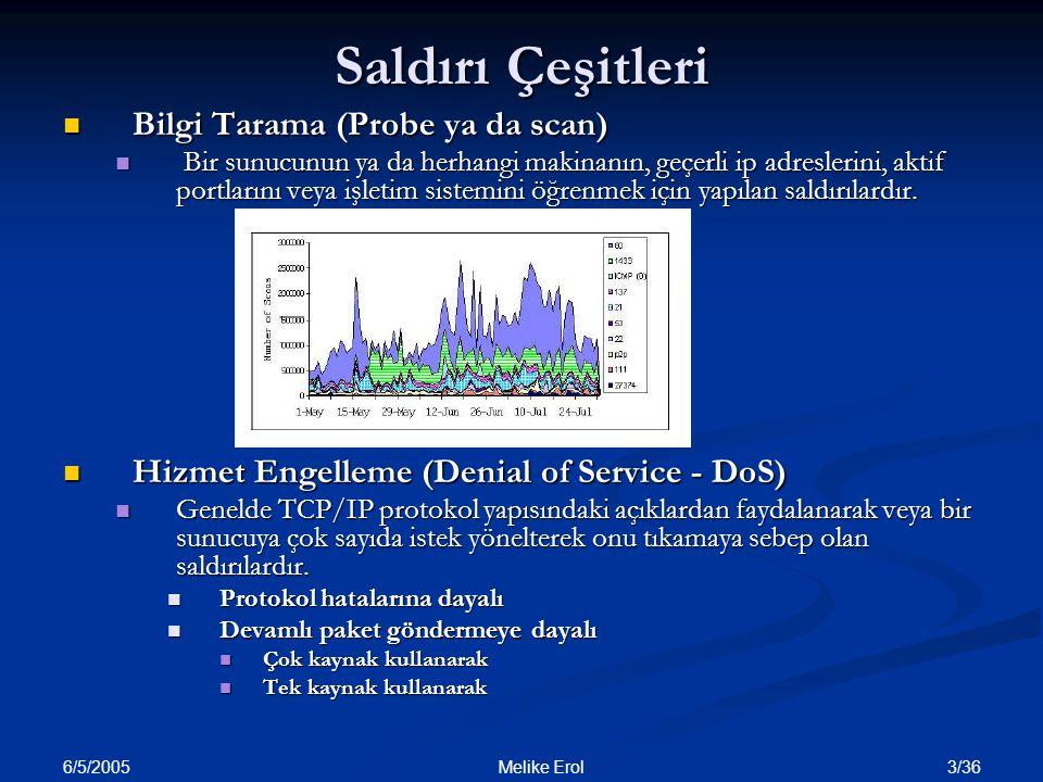 Saldırı Çeşitleri Bilgi Tarama (Probe ya da scan)