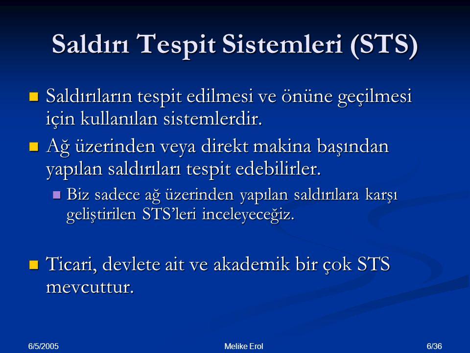 Saldırı Tespit Sistemleri (STS)