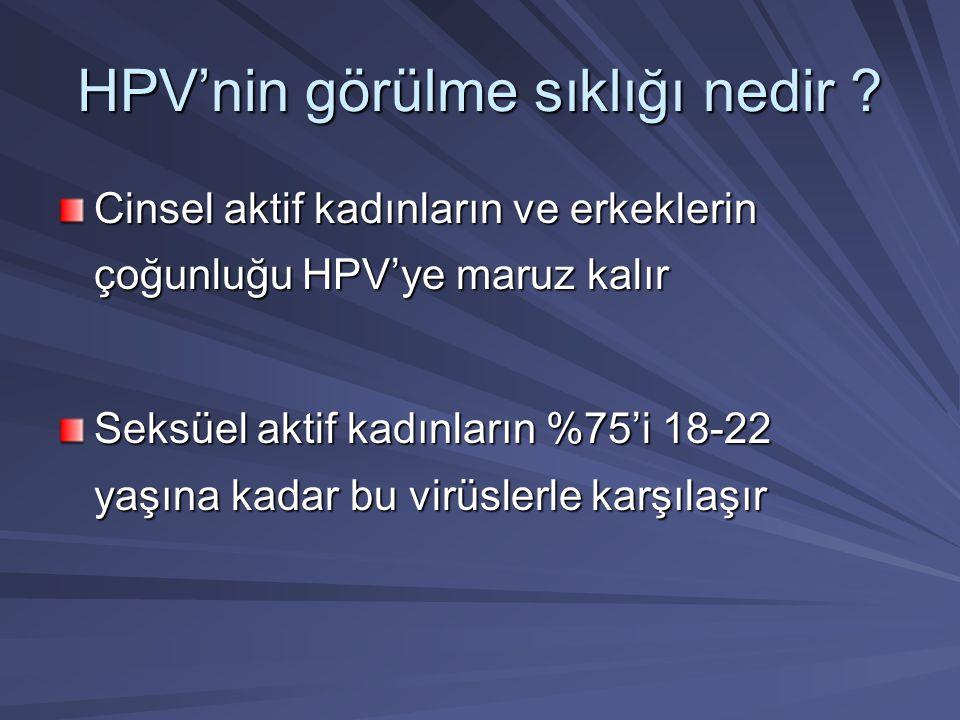 HPV'nin görülme sıklığı nedir