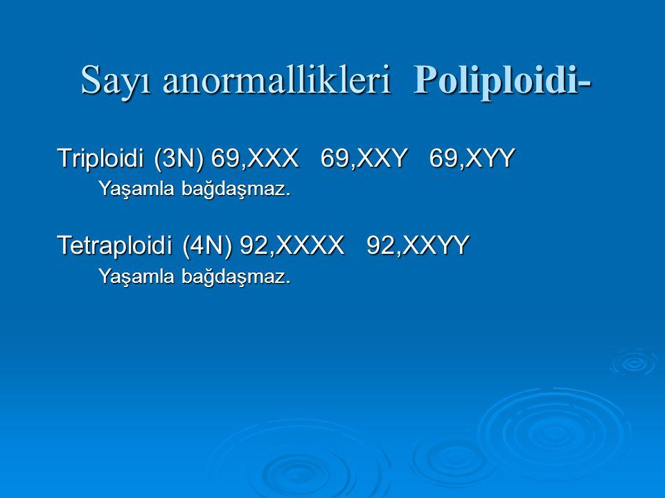 Sayı anormallikleri Poliploidi-