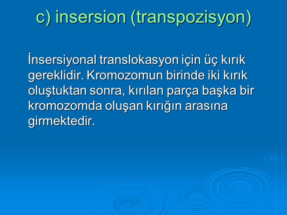 c) insersion (transpozisyon)