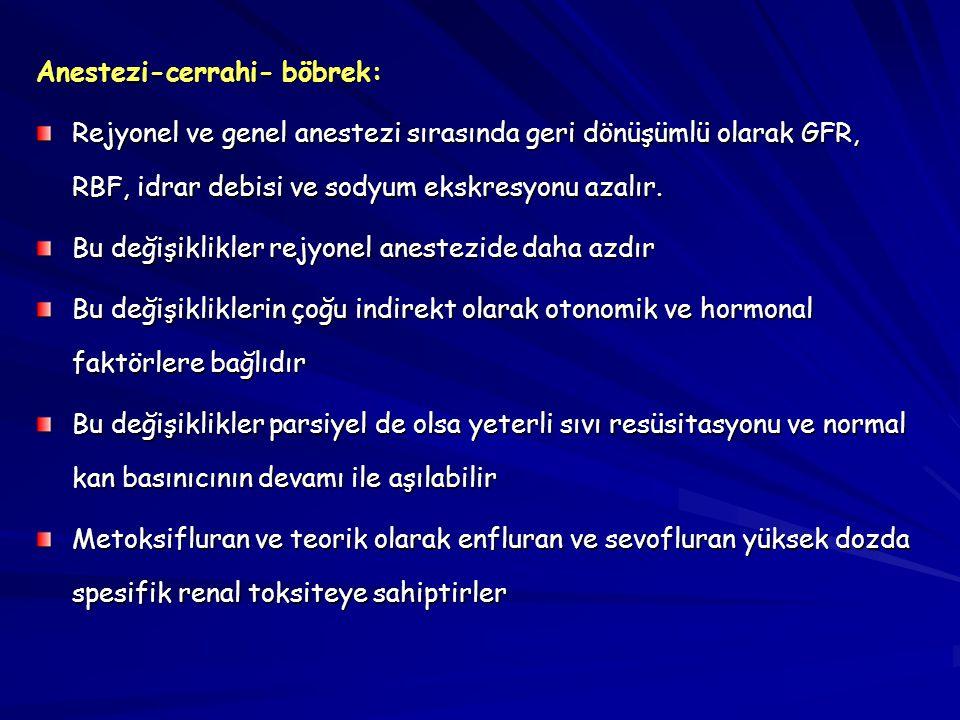 Anestezi-cerrahi- böbrek: