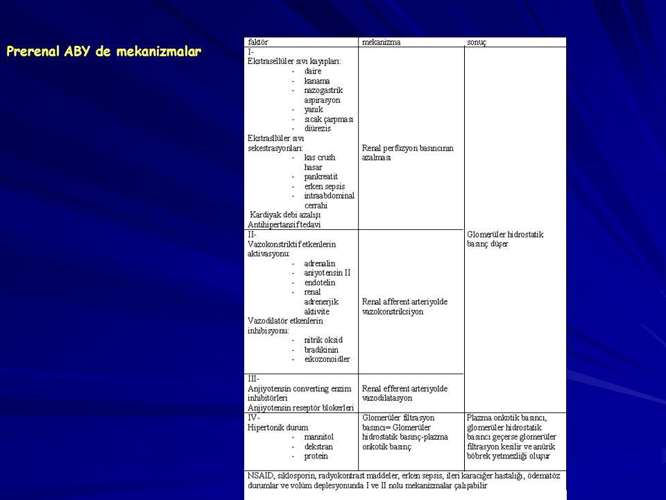 Prerenal ABY de mekanizmalar