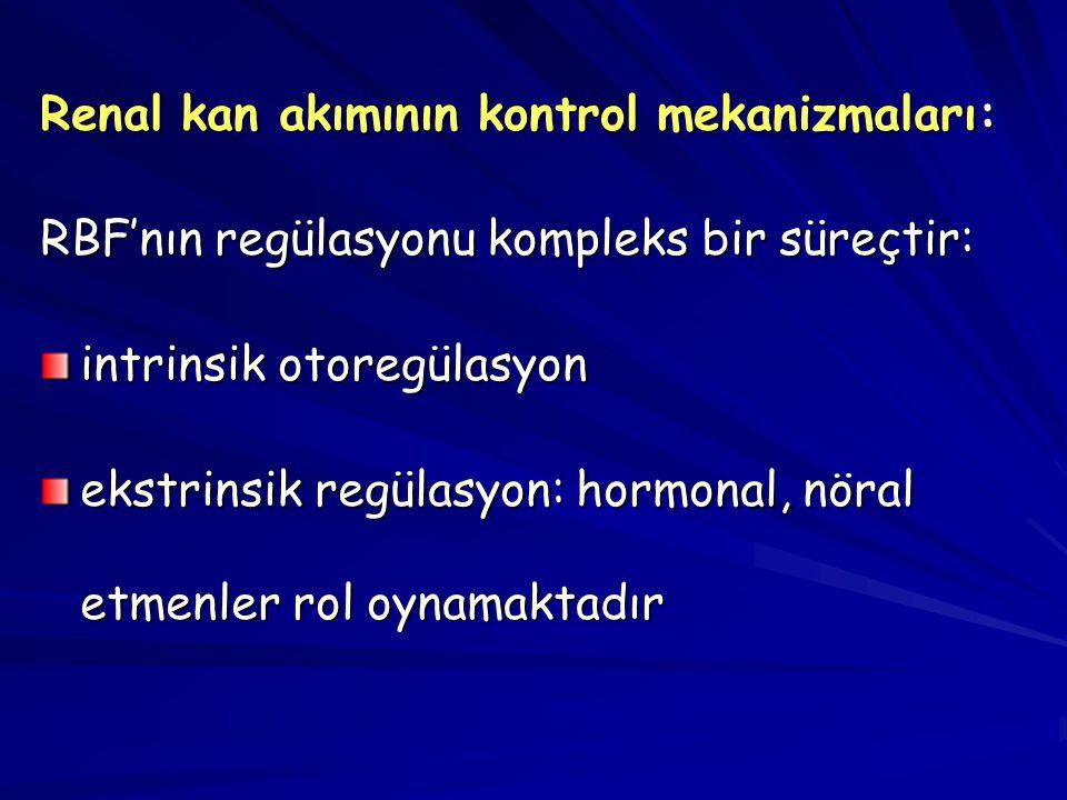 Renal kan akımının kontrol mekanizmaları: