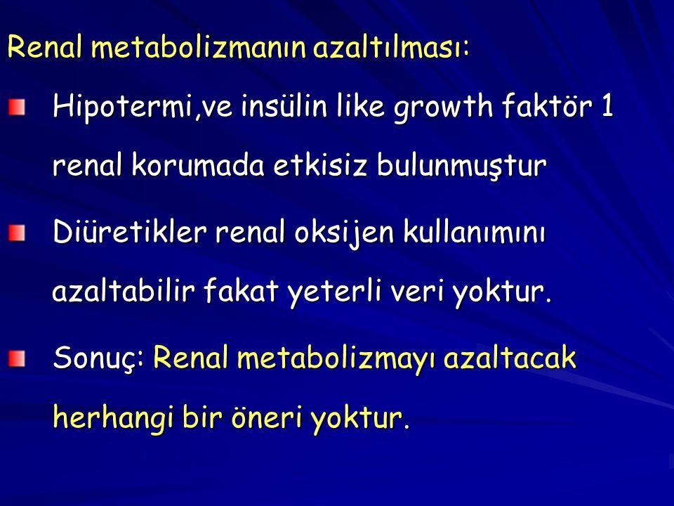 Renal metabolizmanın azaltılması:
