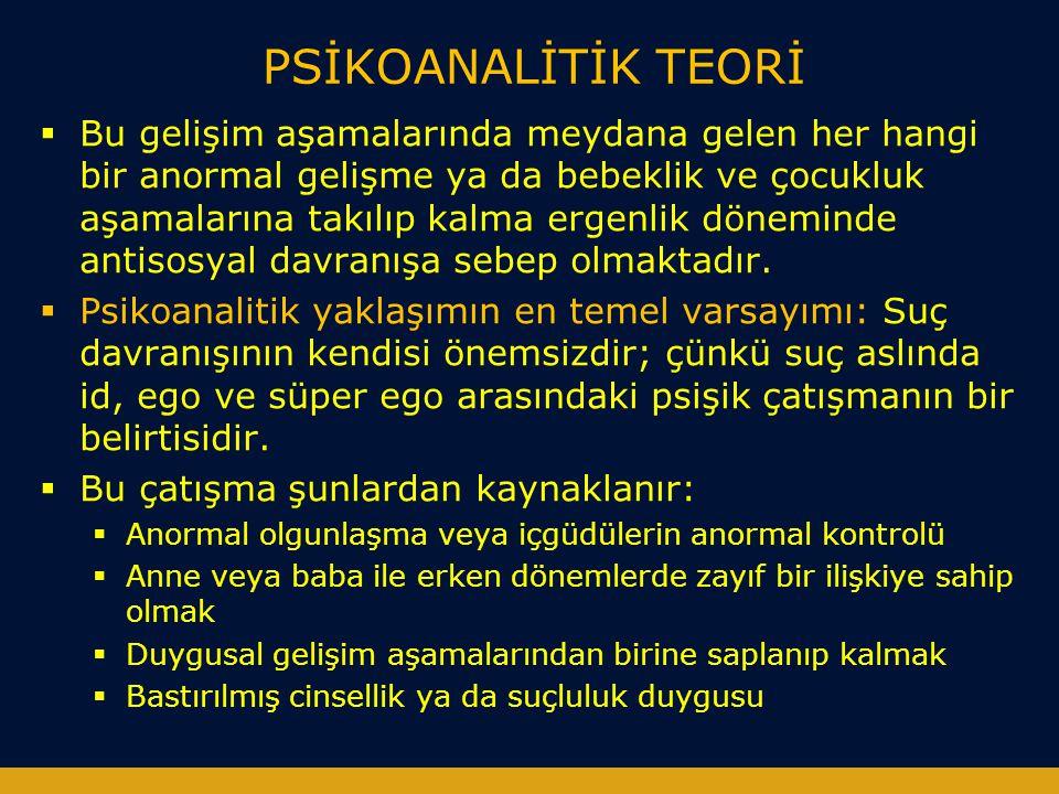 PSİKOANALİTİK TEORİ