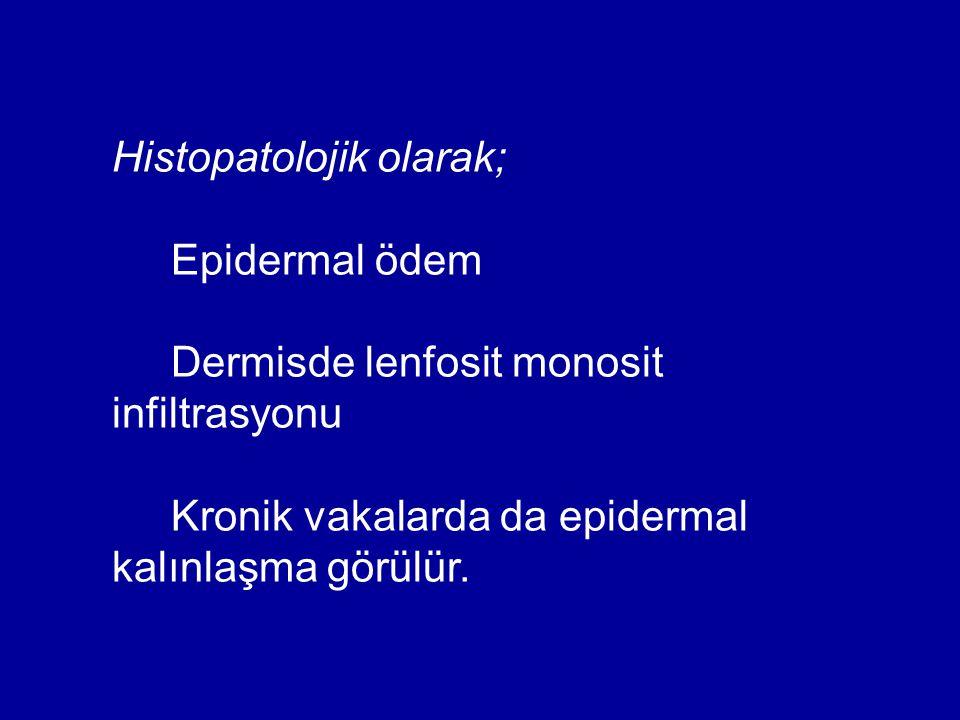 Histopatolojik olarak;