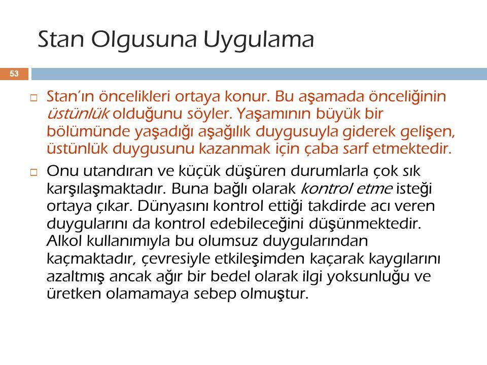 Stan Olgusuna Uygulama