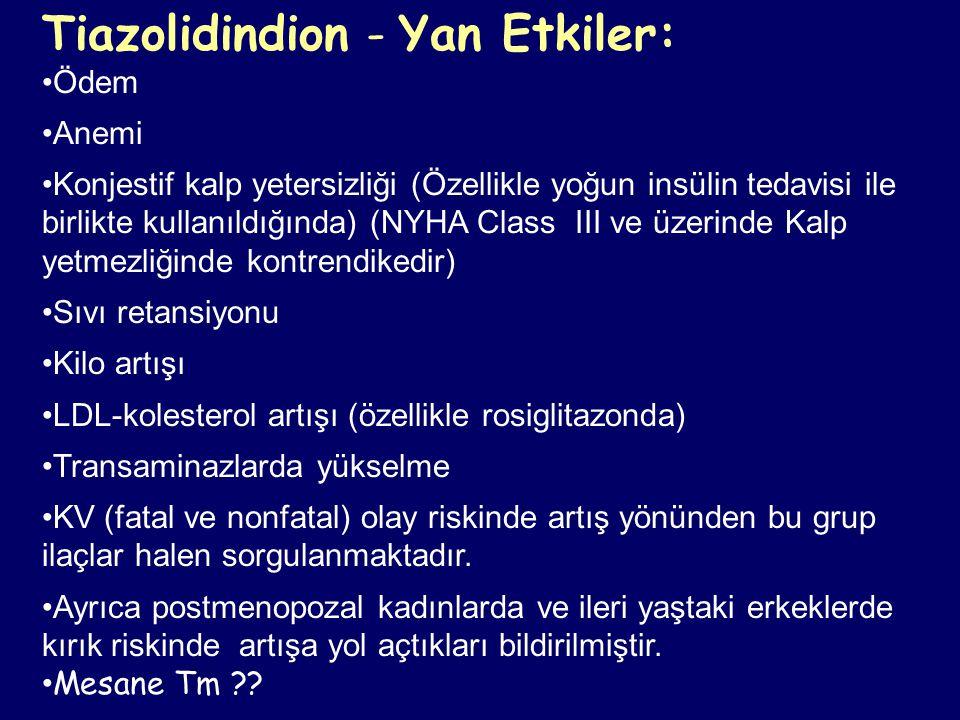 Tiazolidindion - Yan Etkiler: