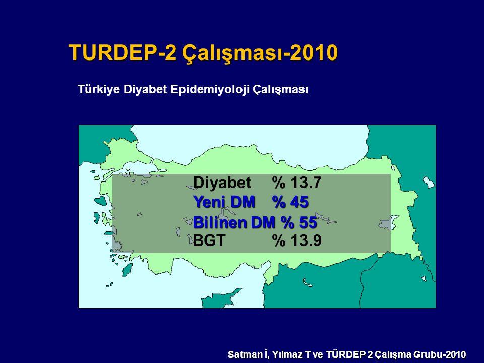 Satman İ, Yılmaz T ve TÜRDEP 2 Çalışma Grubu-2010