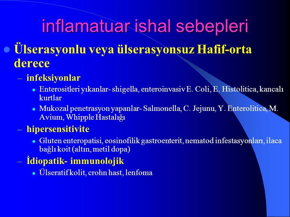 inflamatuar ishal sebepleri