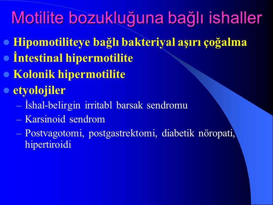 Motilite bozukluğuna bağlı ishaller
