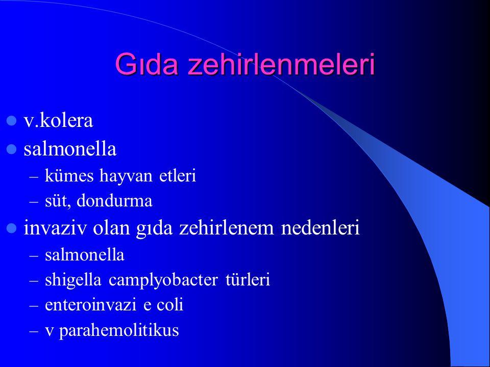 Gıda zehirlenmeleri v.kolera salmonella