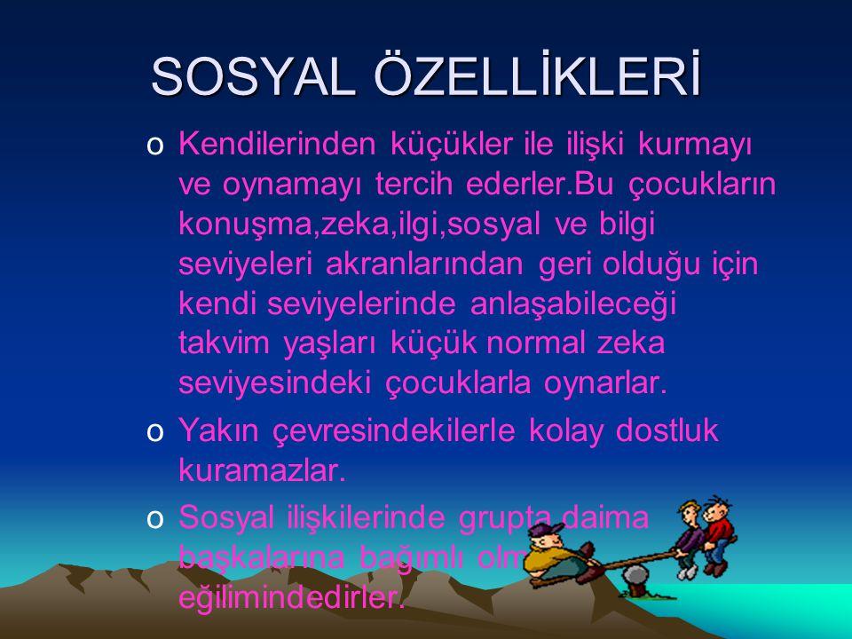 SOSYAL ÖZELLİKLERİ
