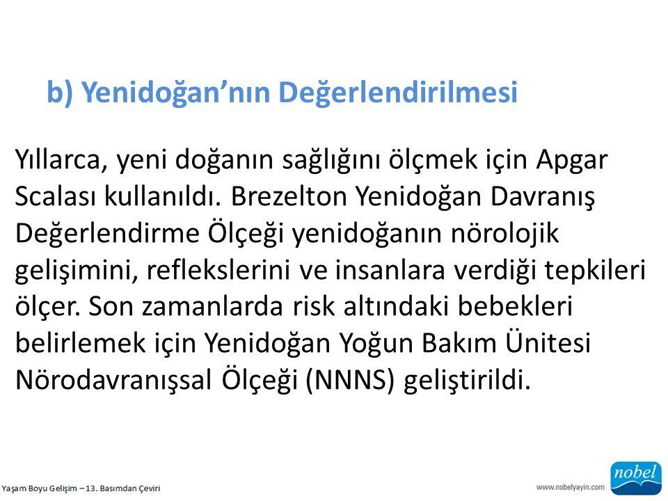 b) Yenidoğan'nın Değerlendirilmesi