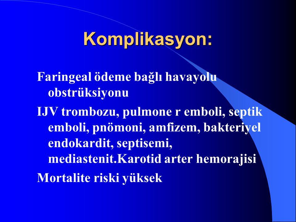 Komplikasyon: Faringeal ödeme bağlı havayolu obstrüksiyonu