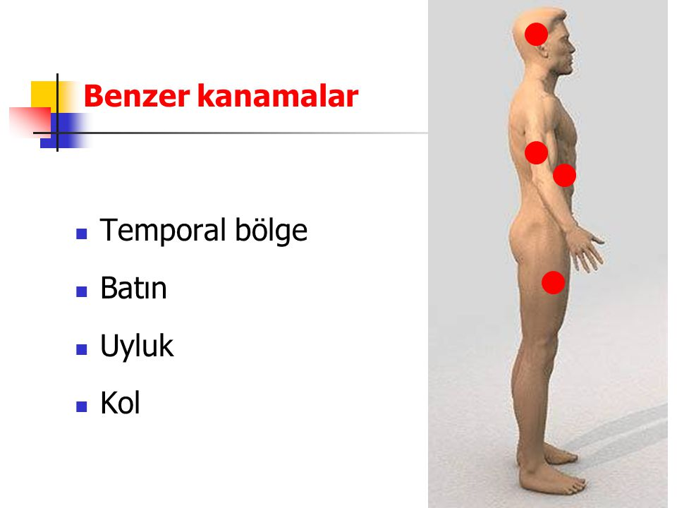 Benzer kanamalar Temporal bölge Batın Uyluk Kol