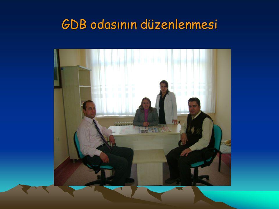 GDB odasının düzenlenmesi