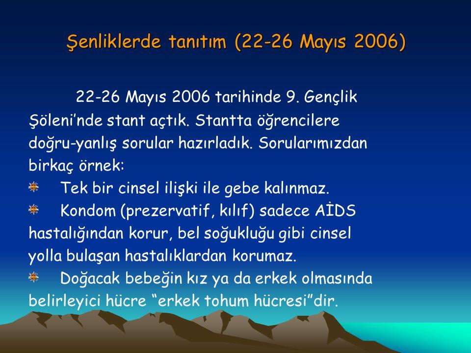 Şenliklerde tanıtım (22-26 Mayıs 2006)