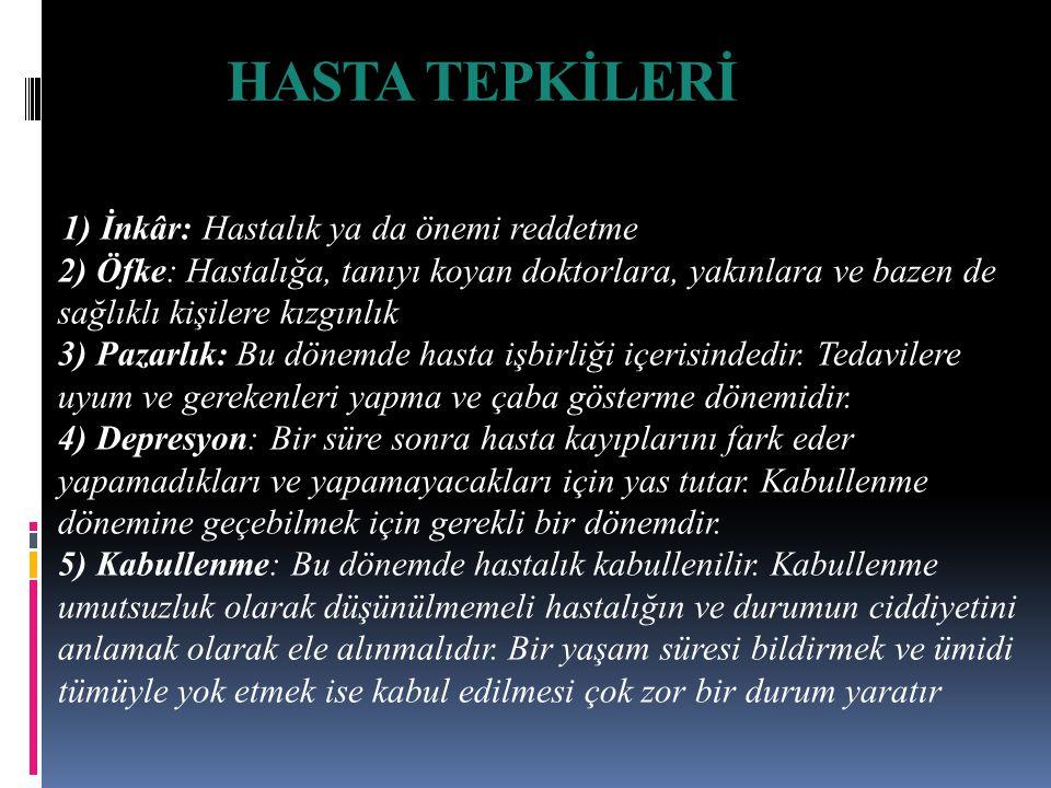 HASTA TEPKİLERİ