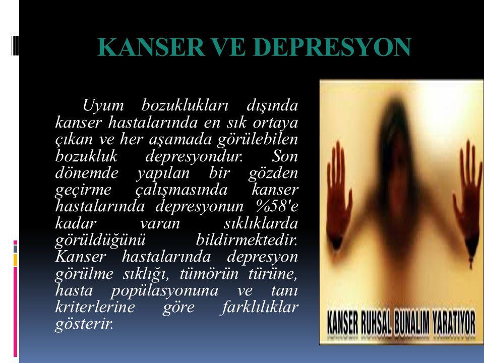KANSER VE DEPRESYON