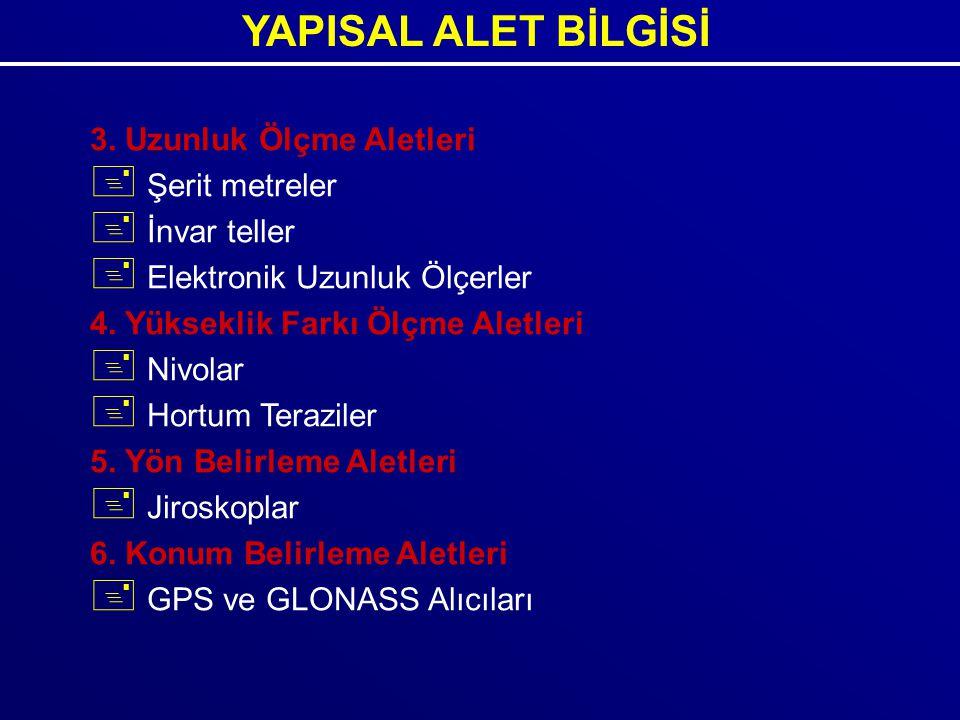 YAPISAL ALET BİLGİSİ 3. Uzunluk Ölçme Aletleri Şerit metreler