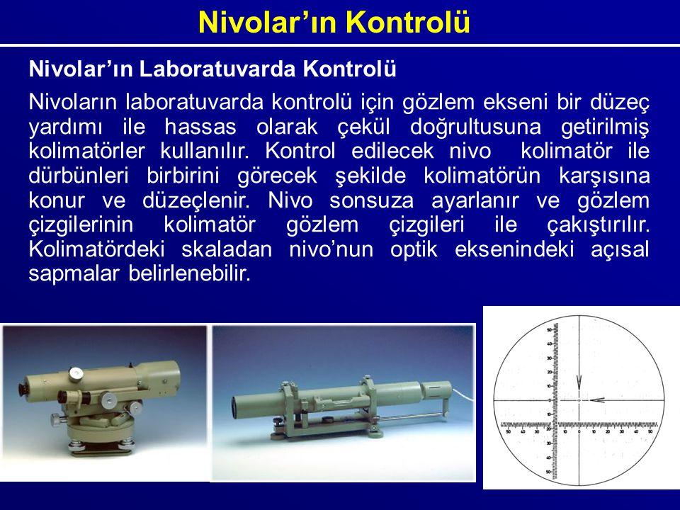 Nivolar'ın Kontrolü Nivolar'ın Laboratuvarda Kontrolü