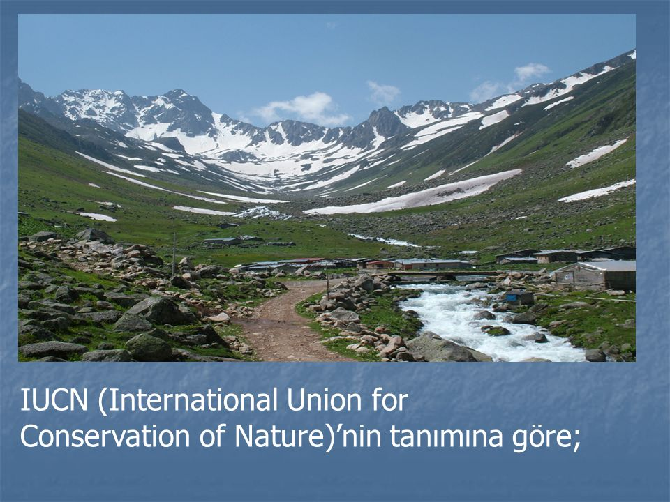 IUCN (International Union for Conservation of Nature)'nin tanımına göre;