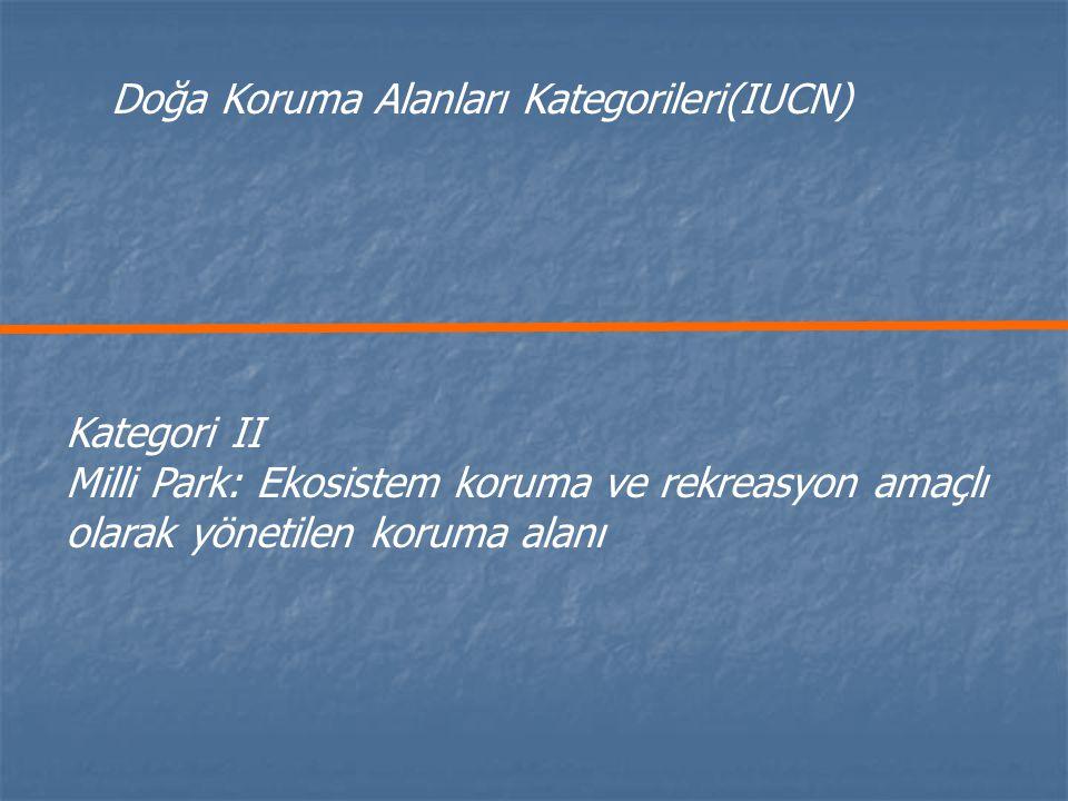 Doğa Koruma Alanları Kategorileri(IUCN)