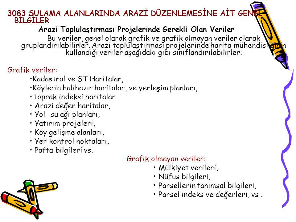 3083 SULAMA ALANLARINDA ARAZİ DÜZENLEMESİNE AİT GENEL BİLGİLER