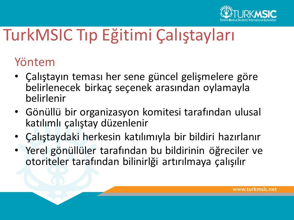 TurkMSIC Tıp Eğitimi Çalıştayları