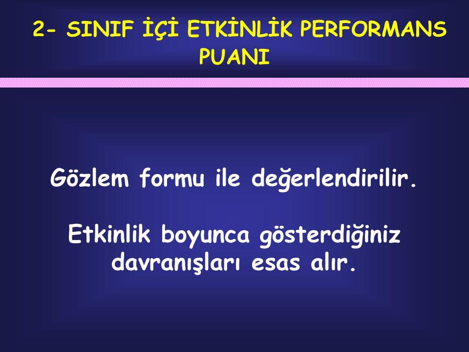 2- SINIF İÇİ ETKİNLİK PERFORMANS PUANI