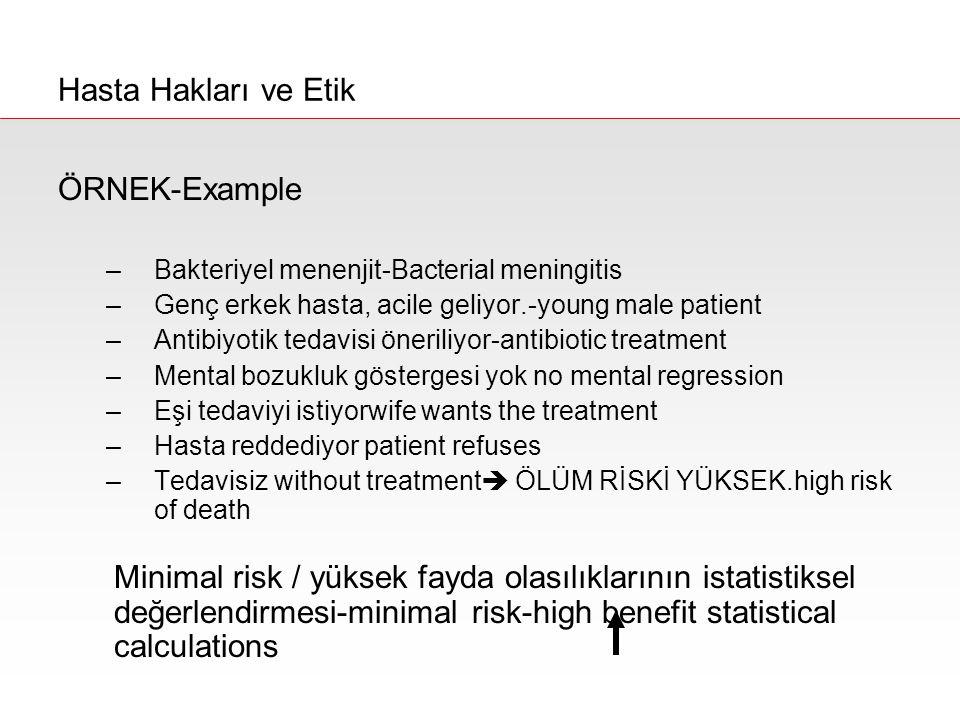 Hasta Hakları ve Etik ÖRNEK-Example