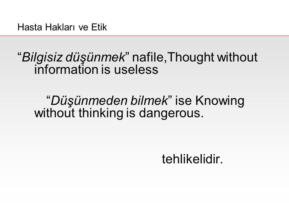 Bilgisiz düşünmek nafile,Thought without information is useless