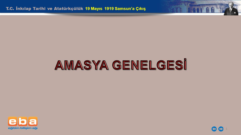 T.C. İnkılap Tarihi ve Atatürkçülük 19 Mayıs 1919 Samsun'a Çıkış